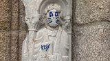 Santiago de Compostela: Weltkulturerbe mit Farbe beschmiert