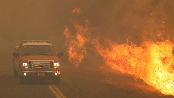 Fogo continua a alastrar em duas frentes a norte de São Francisco