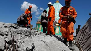 WATCH - Rescue efforts underway to save people trapped under wreckage of Indonesian earthquake