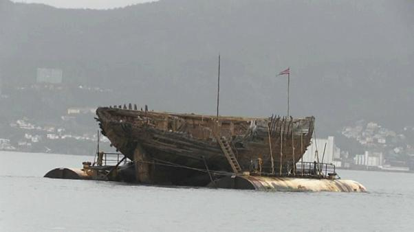 Schiff von Polarforscher Amundsen zurück in Norwegen