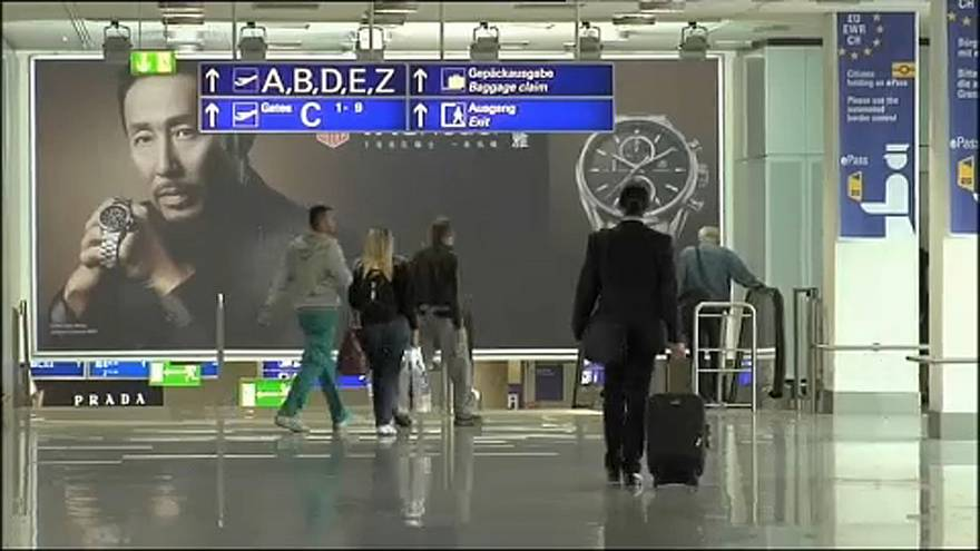 Kiürítés a frankfurti reptéren