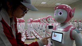 Çin'de bir robot fabrikası