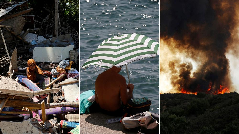 Live updates: Earthquake aftermath, California wildfire and Europe heatwave