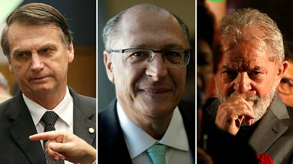 Jair Bolsonaro (PSL), Geraldo Alckmin (PSDB) e Lula da Silva (PT) na luta