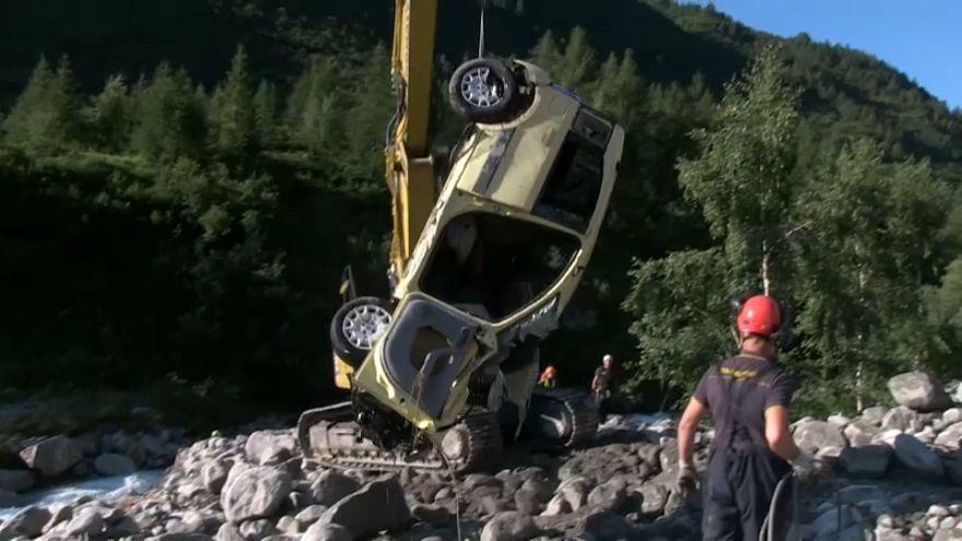 Zwei Tote bei Erdrutsch in italienischen Alpen