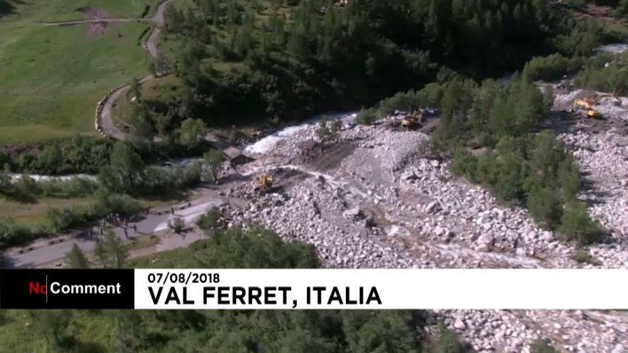 Enorme corrimiento de tierra en el norte de Italia