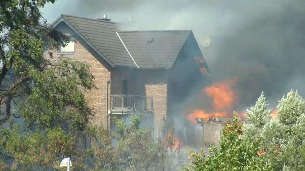 Decenas de heridos tras un espectacular incendio en Alemania