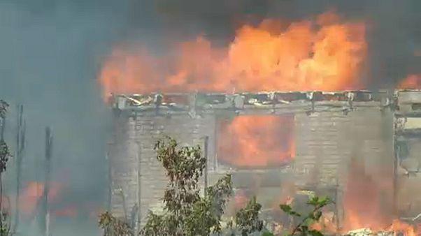 Πυρκαγιά δίπλα στις γραμμές του τρένου - 40 τραυματίες, καμμένα σπίτια