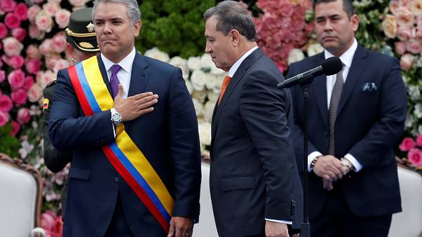 Iván Duque jura su cargo como presidente de Colombia