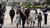 Colombia's President Ivan Duque sworn in pledging to unite divided nation