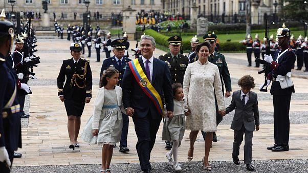 مراسم سوگند رئيس جمهوری جدید کلمبیا برگزار شد