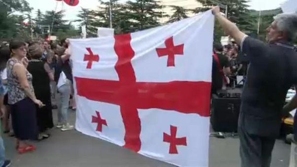 Γεωργία: Διαδηλώσεις για τα 10 χρόνια από τον πόλεμο με τη Ρωσία
