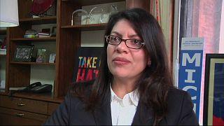 رشيدة طالب أول عربية مسلمة تقترب من عضوية الكونغرس الأميركي
