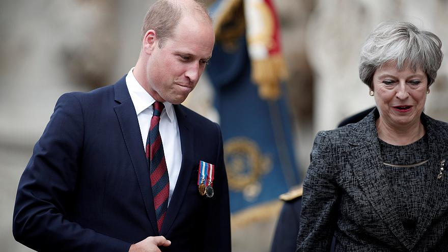 Theresa May et le prince William célèbrent le centenaire de la bataille d'Amiens