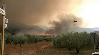 Fuegos sin control en España y Portugal