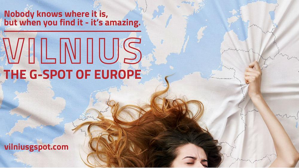 Coming too soon? Calls to delay poster proclaiming Vilnius as Europe's G-spot are rejected