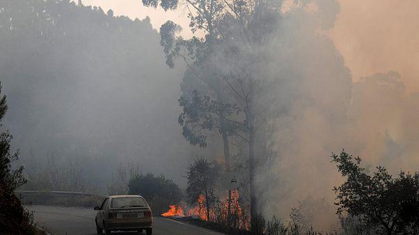 Hetedik napja lángol az erdő Portugáliában