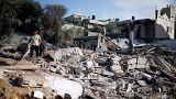 آثار القصف الإسرائيلي لغزة اليوم الخميس