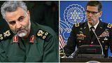 قاسم سلیمانی از سپاه قدس ایران و ژوزف وتل فرمانده ستاد مرکزی ارتش آمریکا