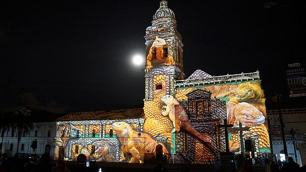 Ecuador: Festival of Lights transforms Quito's old city