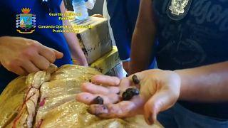 Palermo: le immagini del sequestro di 20 tonnellate di hashish