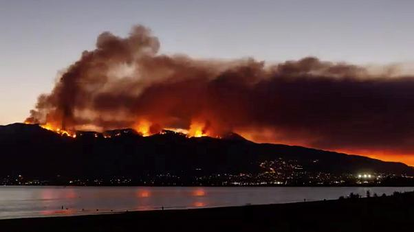 California, il video time-lapse di un incendio