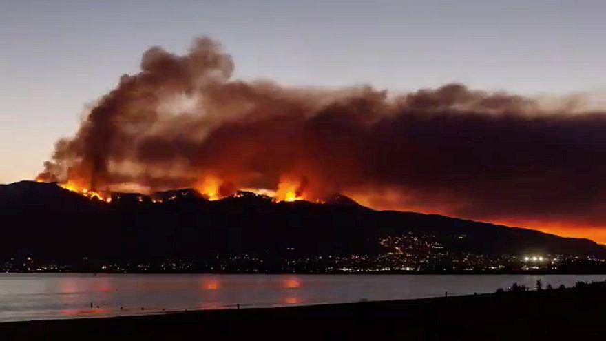California, il video time-lapse di un incendio