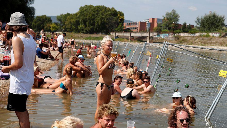 Le Sziget festival sous la canicule