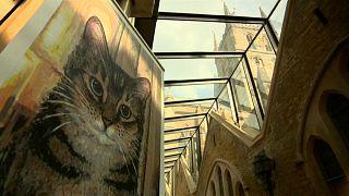 شاهد: كاتدرائية بريطانية تكرم قطة شاردة بنحتٍ يخلد ذكراها