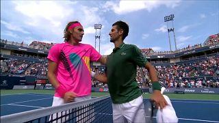 Genç Yunan tenisçi Tsitsipas Rogers Cup'ta Djokoviç'i devirdi