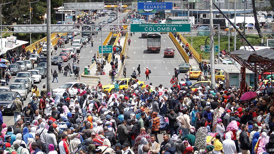 احتمال بسته شدن مرز اکوآدور و کلمبیا؛ نگرانی پناهجویان ونزوئلایی