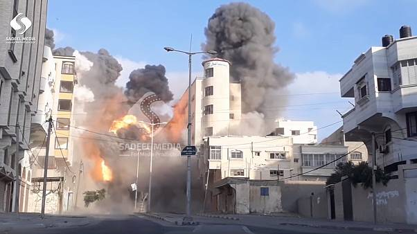 Israeli airstrikes flatten cultural centre in Gaza strip as Hamas seeks truce | The Cube