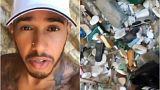 Formula 1 şampiyonu Lewis Hamilton Yunan adasındaki çöpleri topladı