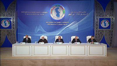 Five nations sign landmark deal on status of Caspian Sea
