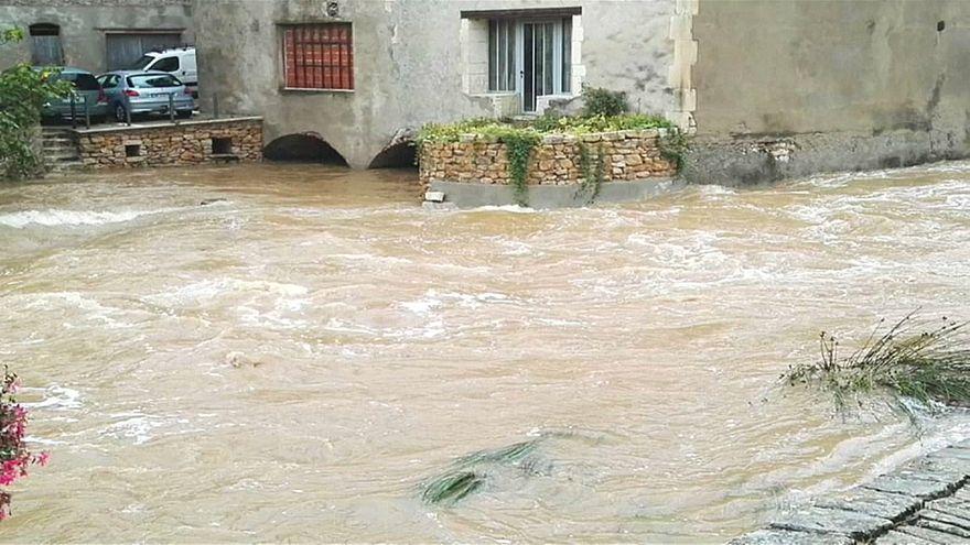 Fransa'da aşırı sıcaklıklardan sonra sel felaketi