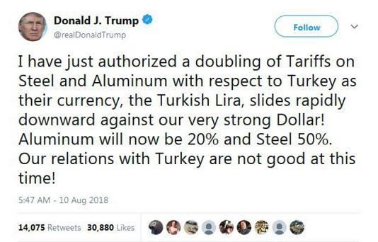منبع: صفحه شخصی توئیتر دونالد ترامپ