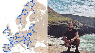 Englishman using GPS to scrawl 'Stop Brexit' over Europe during epic road trip