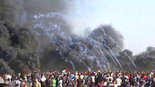 Neue Proteste an Gaza-Grenzzaun - Palästinenser getötet