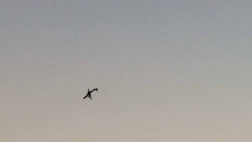 شاهد: آخر لحظات التحليق الدائري والمجنون قبل تحطمّ الطائرة الأميركية المسروقة