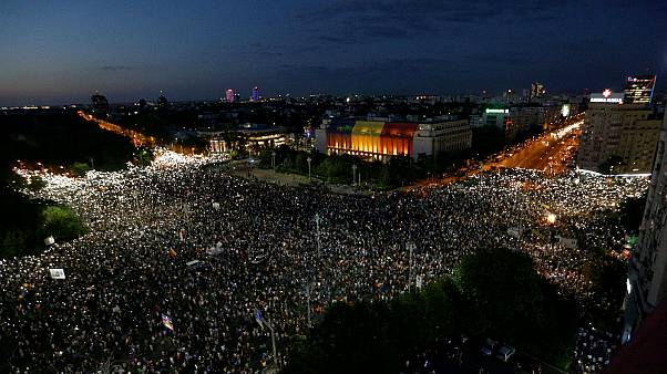 In pictures: Romania's anti-government protest in Bucharest