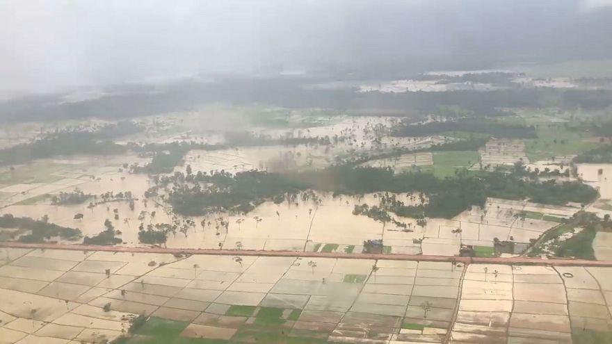 صورة من الأرشيف لفيضانات في لاوس
