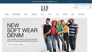 Screen shot from gap.com