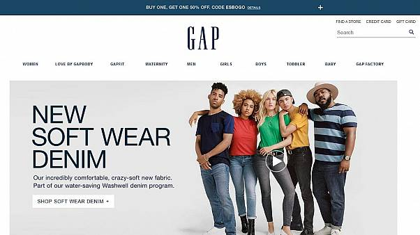 Screen shot from gap.com