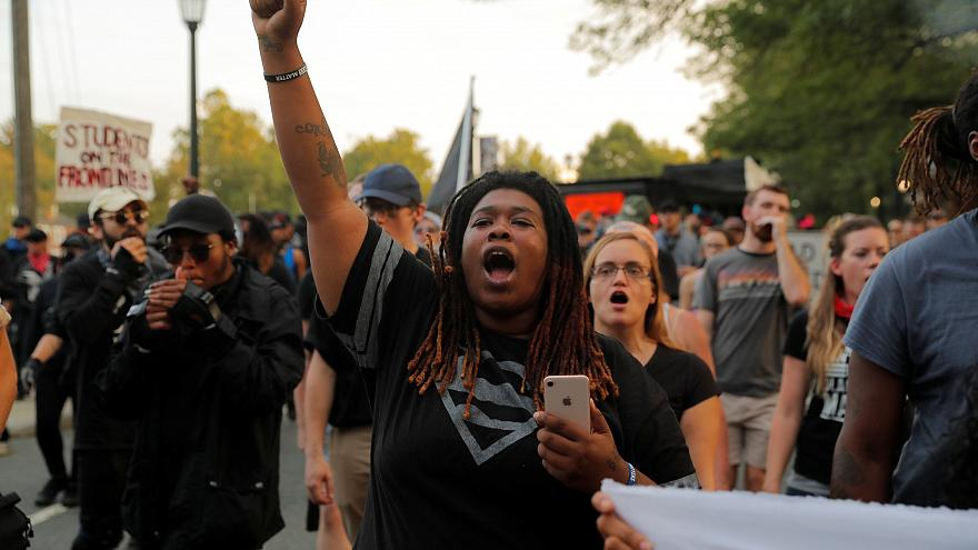 Anti-fascist marchers in Charlottesville mark Heather Heyer anniversary