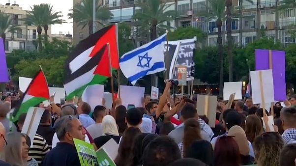 Manifestación de la minoría árabe en Israel