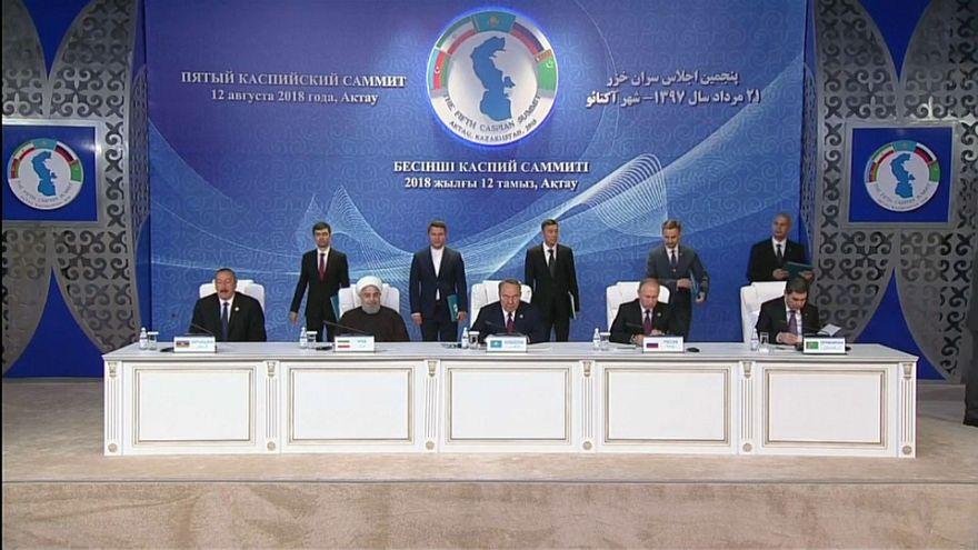 ایران، روسیه، آذربایجان، قزاقستان و ترکمنستان کنوانسیون حقوقی دریای خزر را امضا کردند