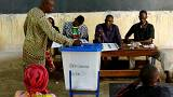 A man casts his ballot at a polling station in Mali