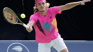 Stefanos Tsitsipas bei seinem Halbfinale in Toronto