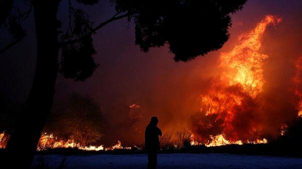 Légszennyezettség: Mérgező, vegyi anyagok vannak a levegőben Athén felett