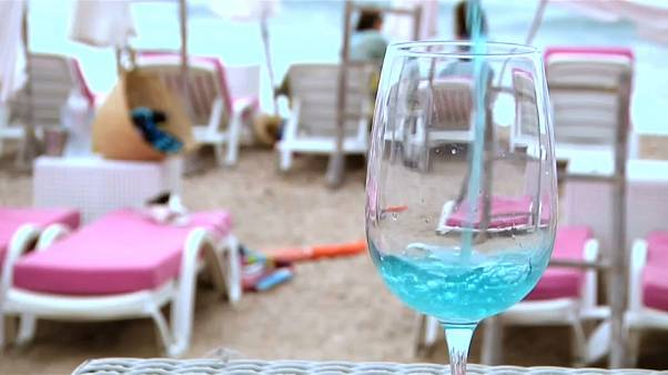 A natural blue wine is selling well in southern France